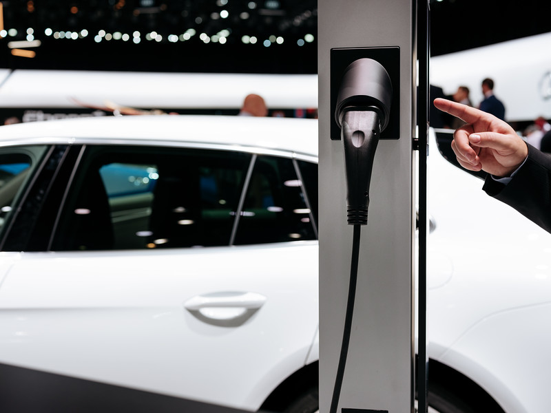 Charger station of the Porsche Panamera 4 E-Hybrid - Samuel Zeller for the New York Times