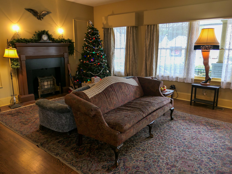 Living room at the A Christmas Story house