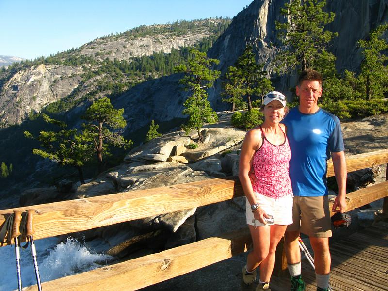 Lisa and I at the bridge over Nevada Falls