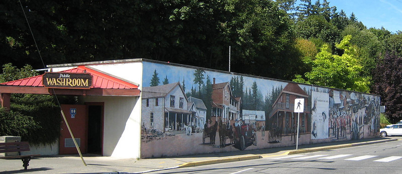 One of the murals