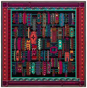 Colliers de Chiens - CS140 - Noir Turquoise Fuchsia - NWSTS - 1605121704