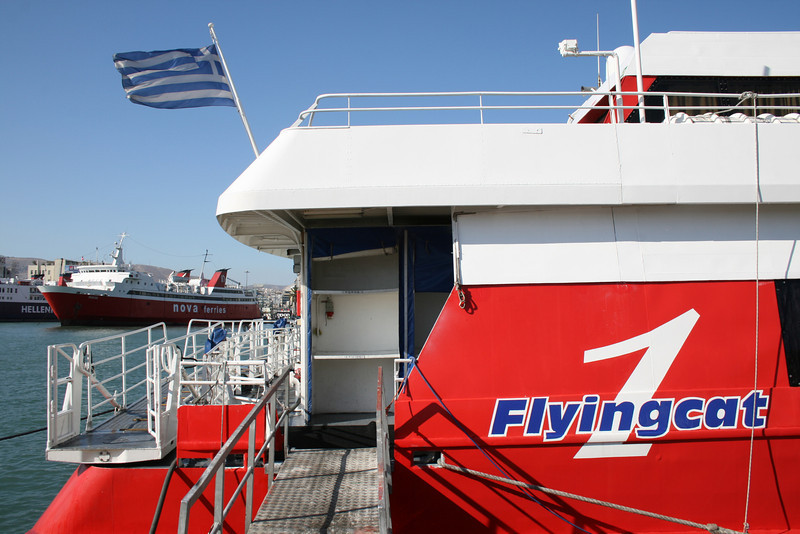 DSC FLYINGCAT 1 moored in Piraeus.