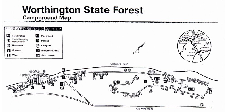 Worthington State Forest (Campground Map)