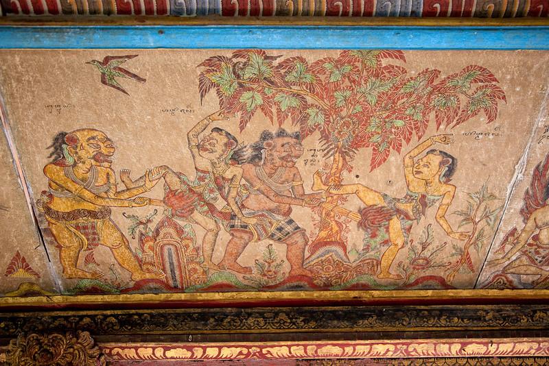 Ceiling at Pura Samuan Tiga Temple - Painful!