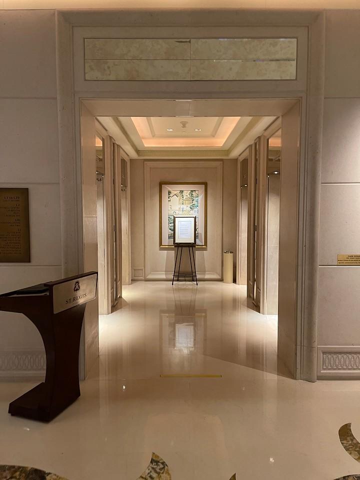 St Regis Singapore Lift Lobby