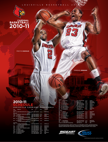 2010-11 LOUISVILLE BASKETBALL POSTER | design and photography by David Klotz