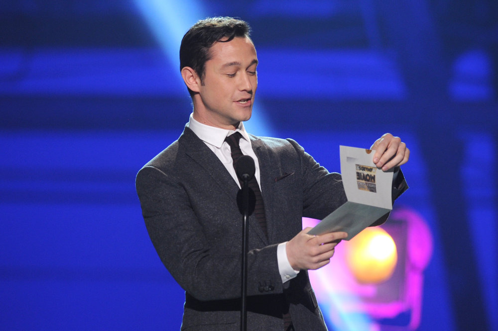 . Presenter Joseph Gordon-Levitt speaks onstage at the 18th Annual Critics\' Choice Movie Awards held at Barker Hangar on January 10, 2013 in Santa Monica, California.  (Photo by Kevin Winter/Getty Images)