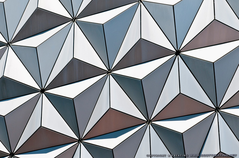 Detailed view of Space Ship Earth (SSE) - EPCOT