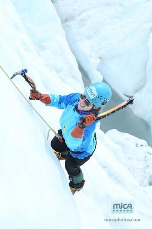 Ice Climbing with Brett M