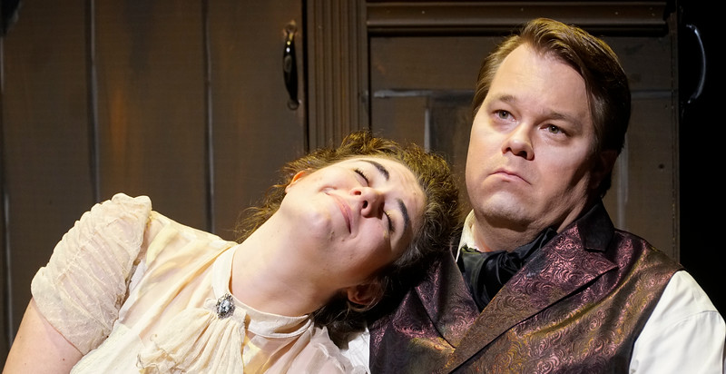 Photos from the musical Sweeney Todd. ©2019 GWU/Lindy Lynch