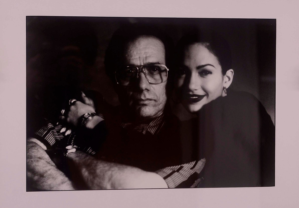 ". Edward James Olmos, left, and Jennifer Lopez, right, are visible in a scene from the 1997 movie ""Selena\"" as seen in a photograph featured in the Latinos In Hollywood exhibit at California State University San Bernardino May 7, 2013.  (Gabriel Luis Acosta/San Bernardino Sun)"