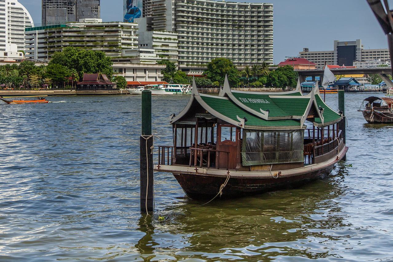 One of The Peninsula Hotel BKK Boats