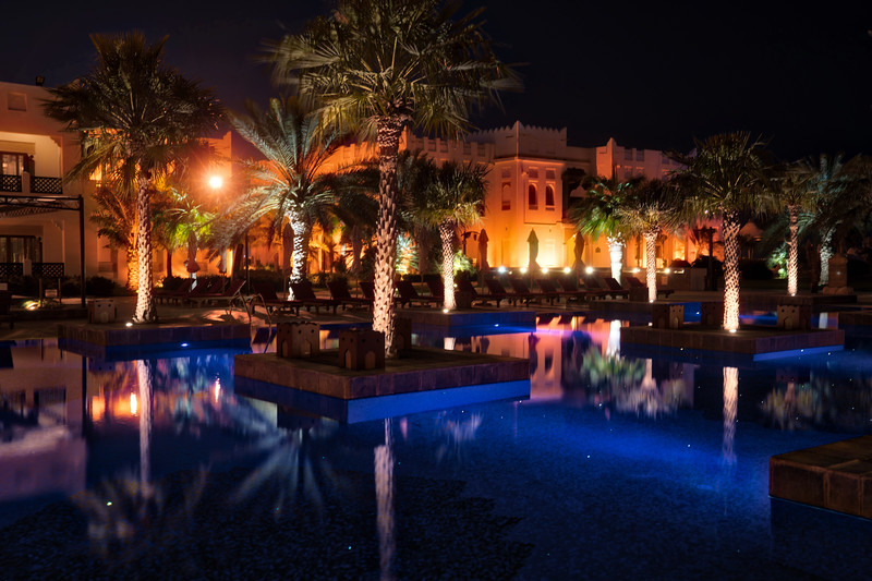 The Ritz-Carlton Pool in Doha Qatar
