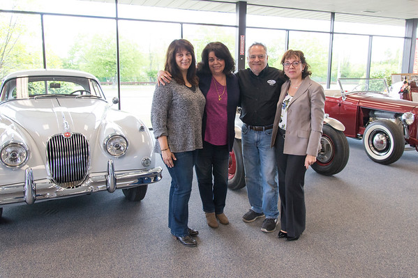 05/15/19 Wesley Bunnell | Staff President of The Paddock Classic Car Restorations Michael Donnelly, 3rd L, stands with his wife Pat Donnelly, far R, and her sisters Diane Doolan and Linda Castagliuolo.