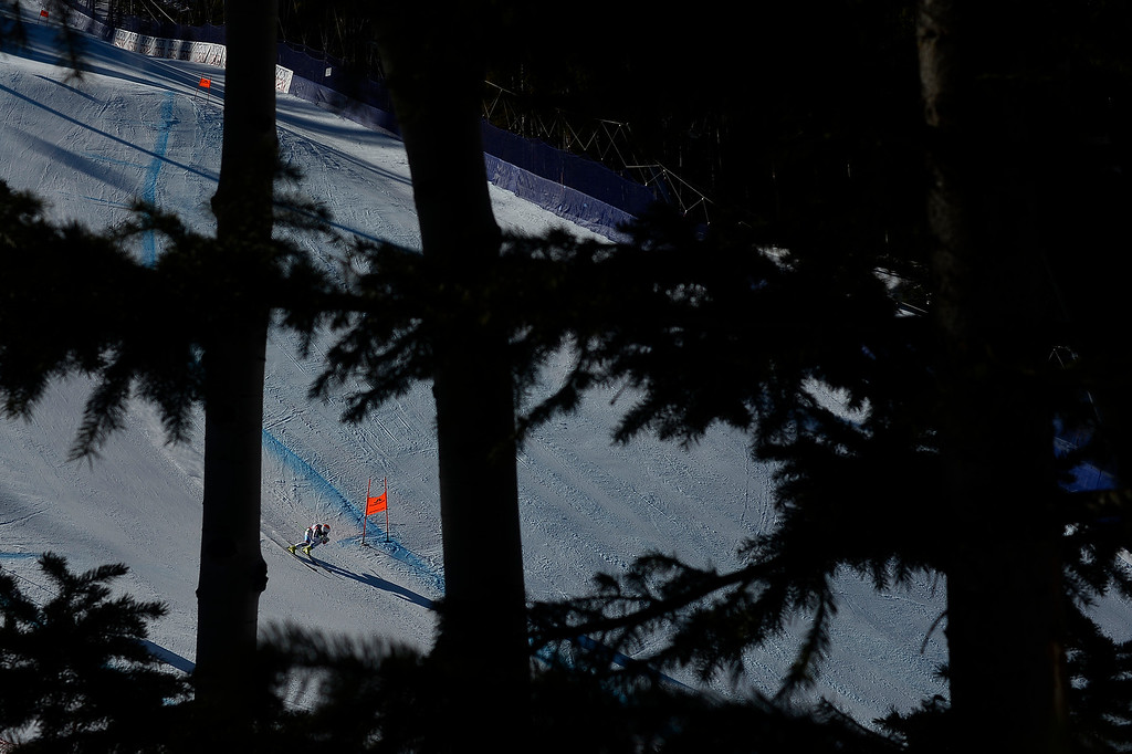 . BEAVER CREEK, CO - FEBRUARY 09: Priska Nufer of Switzerland competes during the men\'s alpine combined final. FIS Alpine World Ski Championships 2015 on Monday, February 9, 2015. (Photo by AAron Ontiveroz/The Denver Post)