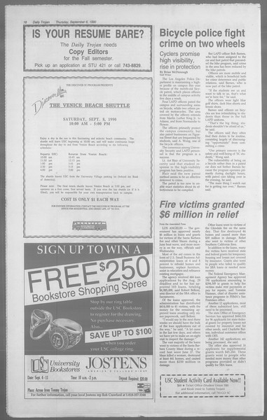 Daily Trojan, Vol. 113, No. 3, September 06, 1990