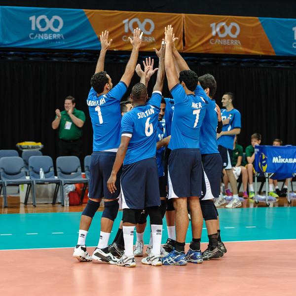 Kuwait team introductions.