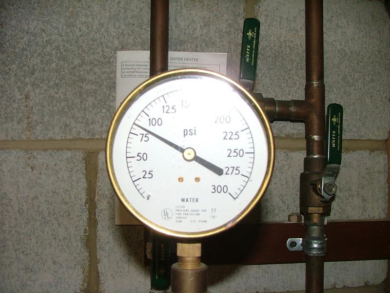 h20 pressure