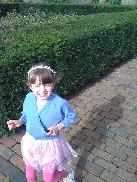 Ballerina in the garden