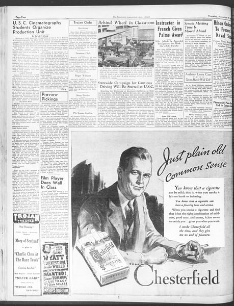 Daily Trojan, Vol. 28, No. 43, November 19, 1936