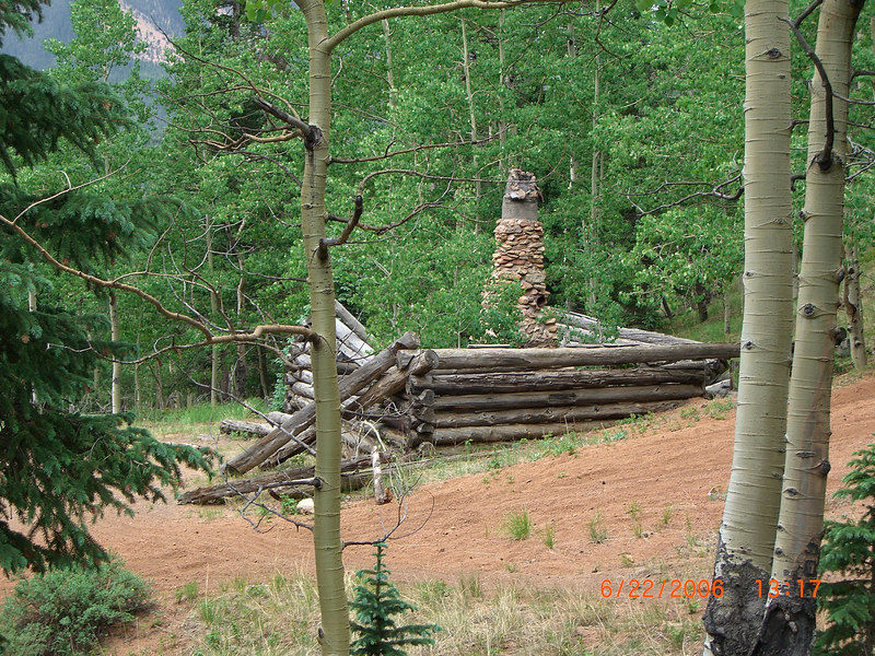Frank Lund's cabin - after falling into disrepair.