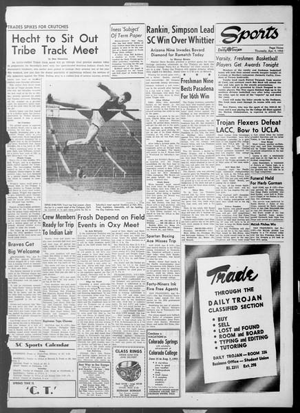 Daily Trojan, Vol. 44, No. 107, April 09, 1953
