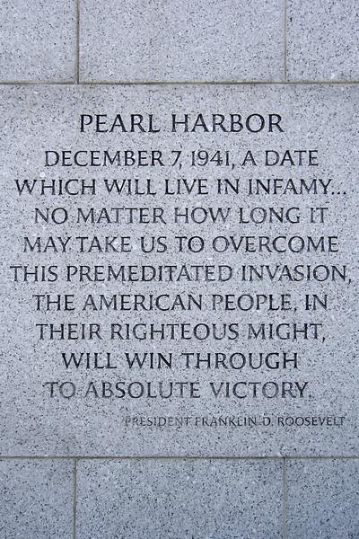 President Roosevelt's quote