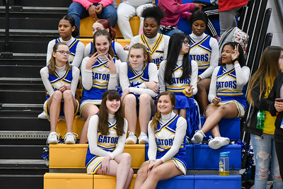 01/23 - Cheerleaders - Glenview vs Deere