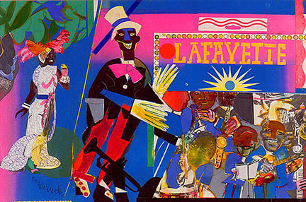 "Romare Bearden, ""Johnny Hudgins Come On"" (1981)"