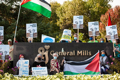 Rally at General Mills, Golden Valley, MN, September 21