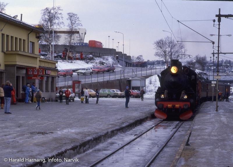 Damplokomotiv på Narvik stasjon