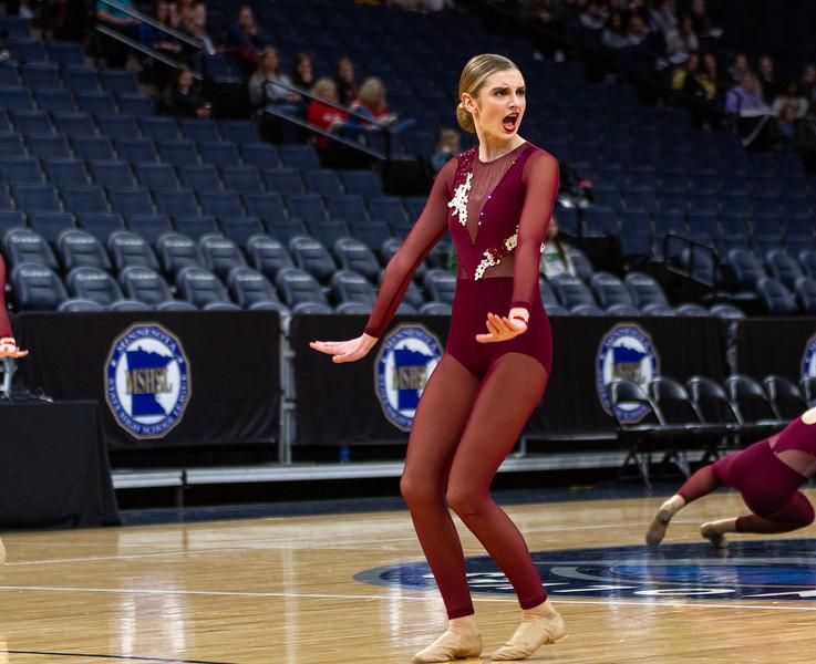 Holy Family's Olivia Sadowski '22 at 2020 MSHSL State Jazz Tournament Final - Collin Nawrocki/The Phoenix