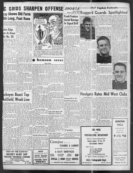 Daily Trojan, Vol. 39, No. 5, September 19, 1947