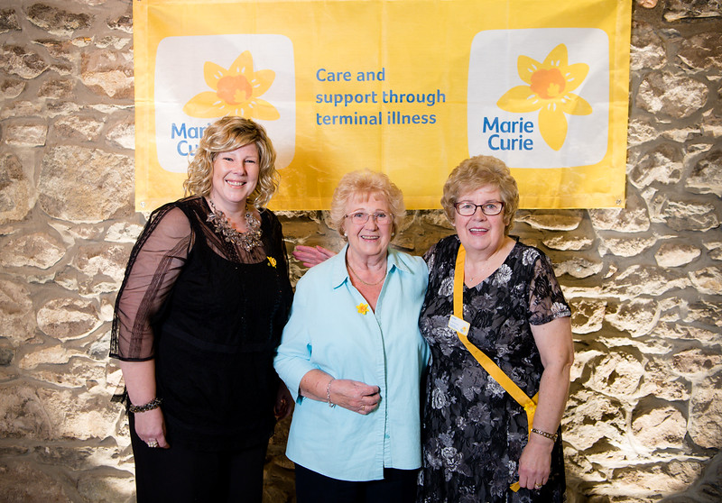 l-r Eilidh Fraser, Alice MacLeod and Phyllis Bennett had a great time at the the 2018 ladies lunch for Marie Curie)  PHOTO BY JOHN PAUL PEEBLES OF ABRIGHTSIDE