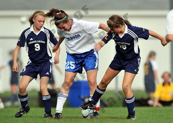 Girls JV Soccer - Grand Ledge at Mason - May 21