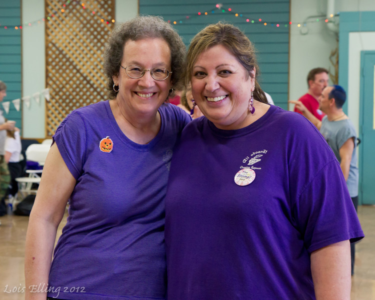 Susan and Candy at Late Harvest Stomp, 2012.