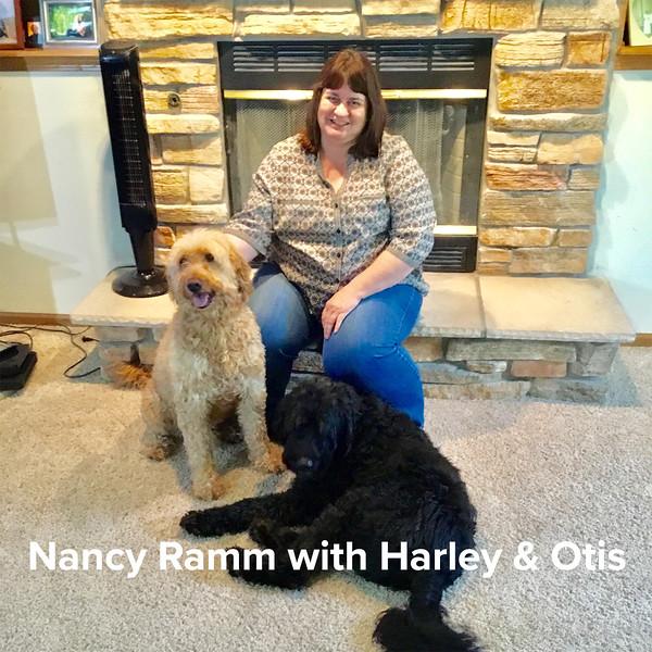 Nancy Ramm with Harley & Otis.jpg