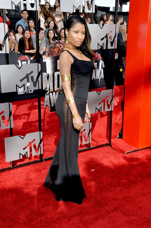 . Singer Nicki Minaj attends the 2014 MTV Movie Awards at Nokia Theatre L.A. Live on April 13, 2014 in Los Angeles, California.  (Photo by Michael Buckner/Getty Images)