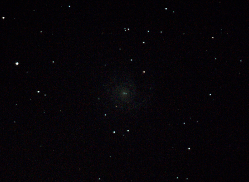 Messier M74 - NGC628 - Spiral Galaxy in Pisces - 18/8/2012 (Processed cropped stack)   DeepSkyStacker 3.3.2 Stacked 85% of 16 Images ISO 800 60 Sec, 87 DARK @ 120 Sec, 53 BIAS, 0 FLATS, Post-processed by Photoshop CS5   Telescope - Bintel BT200 f/4.0 Newtonian (borrowed from Stephen Boyd) with Baader MPCC Coma Corrector, Hutech LPS-P2 filter, Canon 40D DSLR field 64'x95', Ambient 7C. Mount - Skywatcher NEQ6 Pro. Guidescope - Orion ShortTube 80 with Star Shoot Auto Guider.