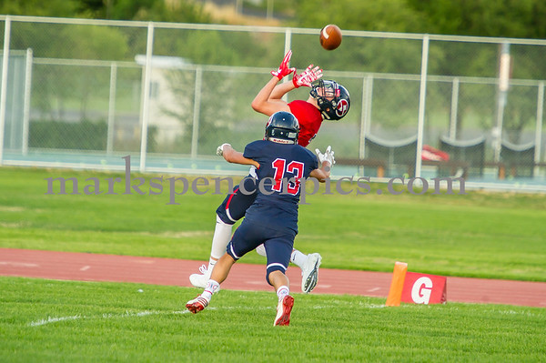 Football SHS Blue and Red 8-10-2017