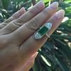 4.05ct Emerald and Old European Cut Diamond Ring 22