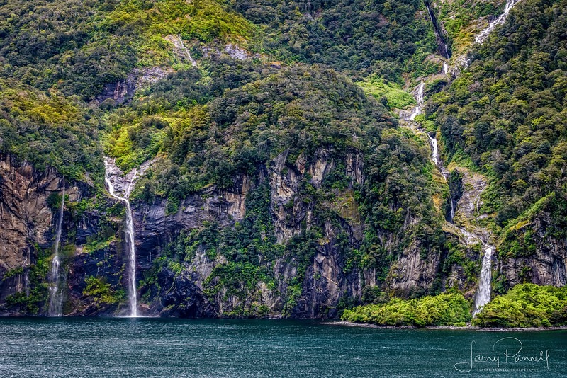 Triple Waterfalls of Milford Sound
