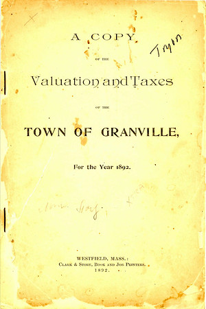 1892 Granville Valuations and Taxes
