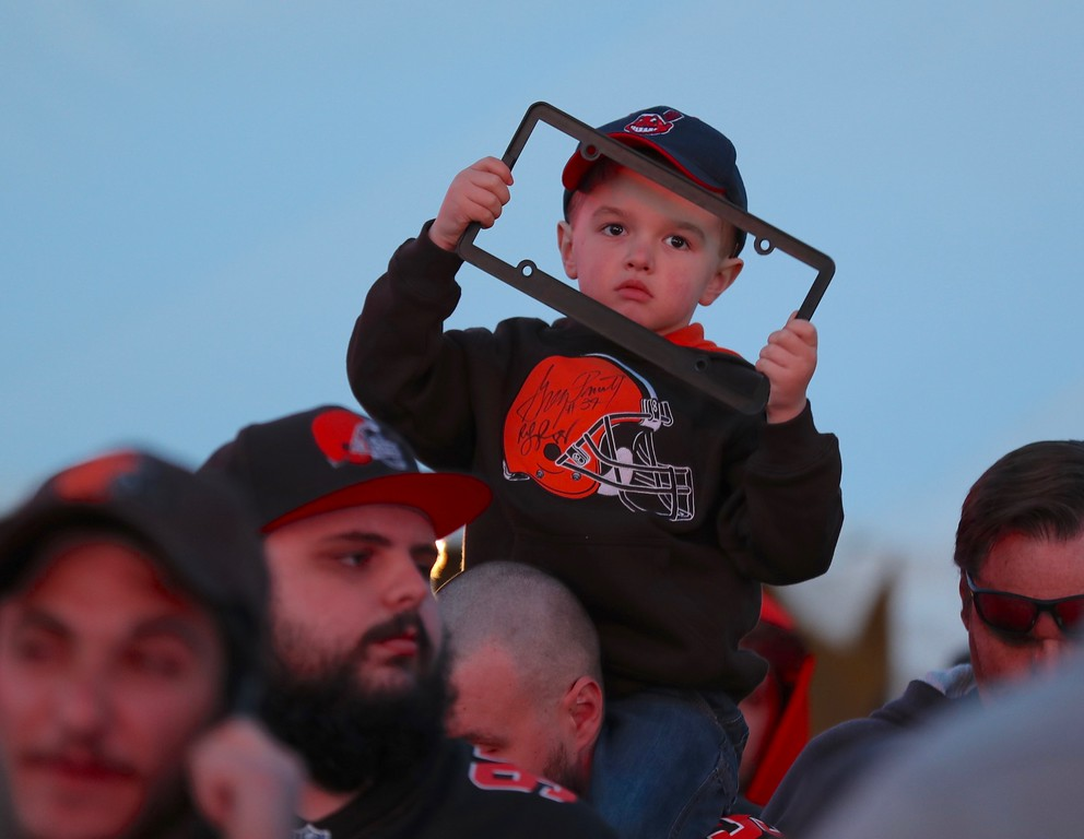 . Tim Phillis - The News-Herald Photos from the Browns draft party on April 26, 2018.