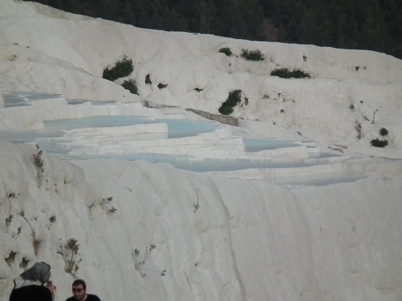 From a distance it looked something lilke snowbanks, only there were pools of warm water at the top.