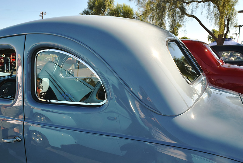 Ford 1937 Standard Coupe red-Club Coupe gray roof rr lf.JPG