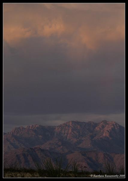 Mountain Peaks at sunset near Kingman, Arizona, September 2009
