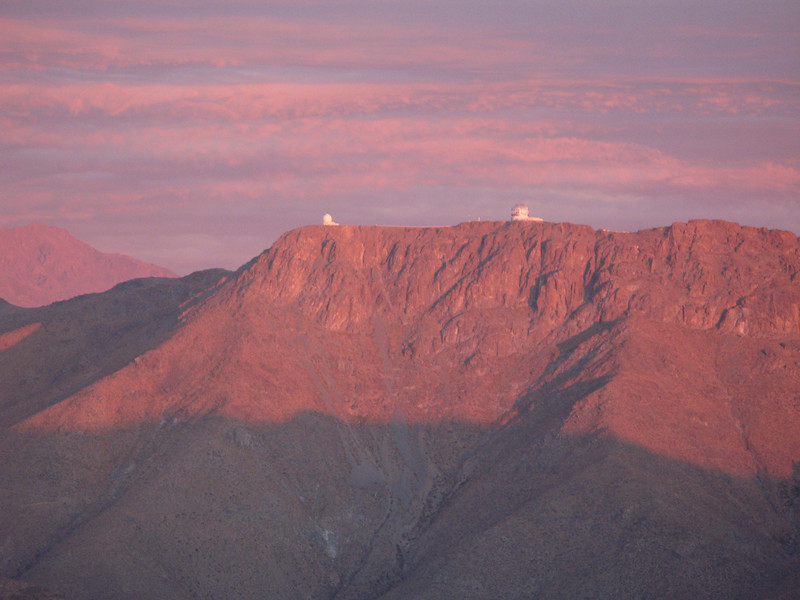 Looking across to Cerro Pachón with Gemini South and SOAR