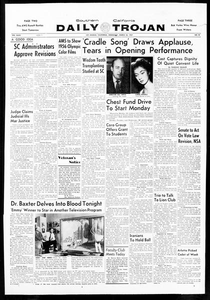 Daily Trojan, Vol. 48, No. 97, March 20, 1957
