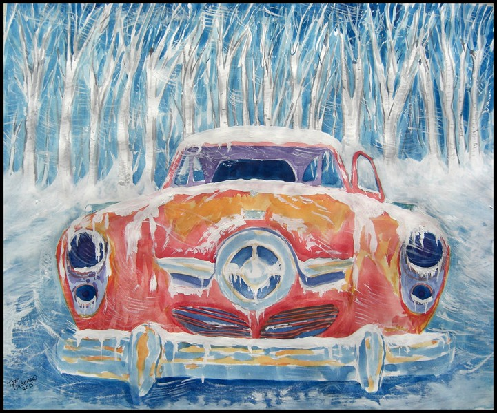 Studebaker Commander, 14x17, watercolor, finished march 28, 2015.